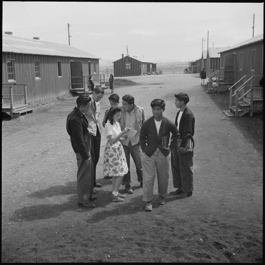 High School students at Heart Mountain Relocation Center.