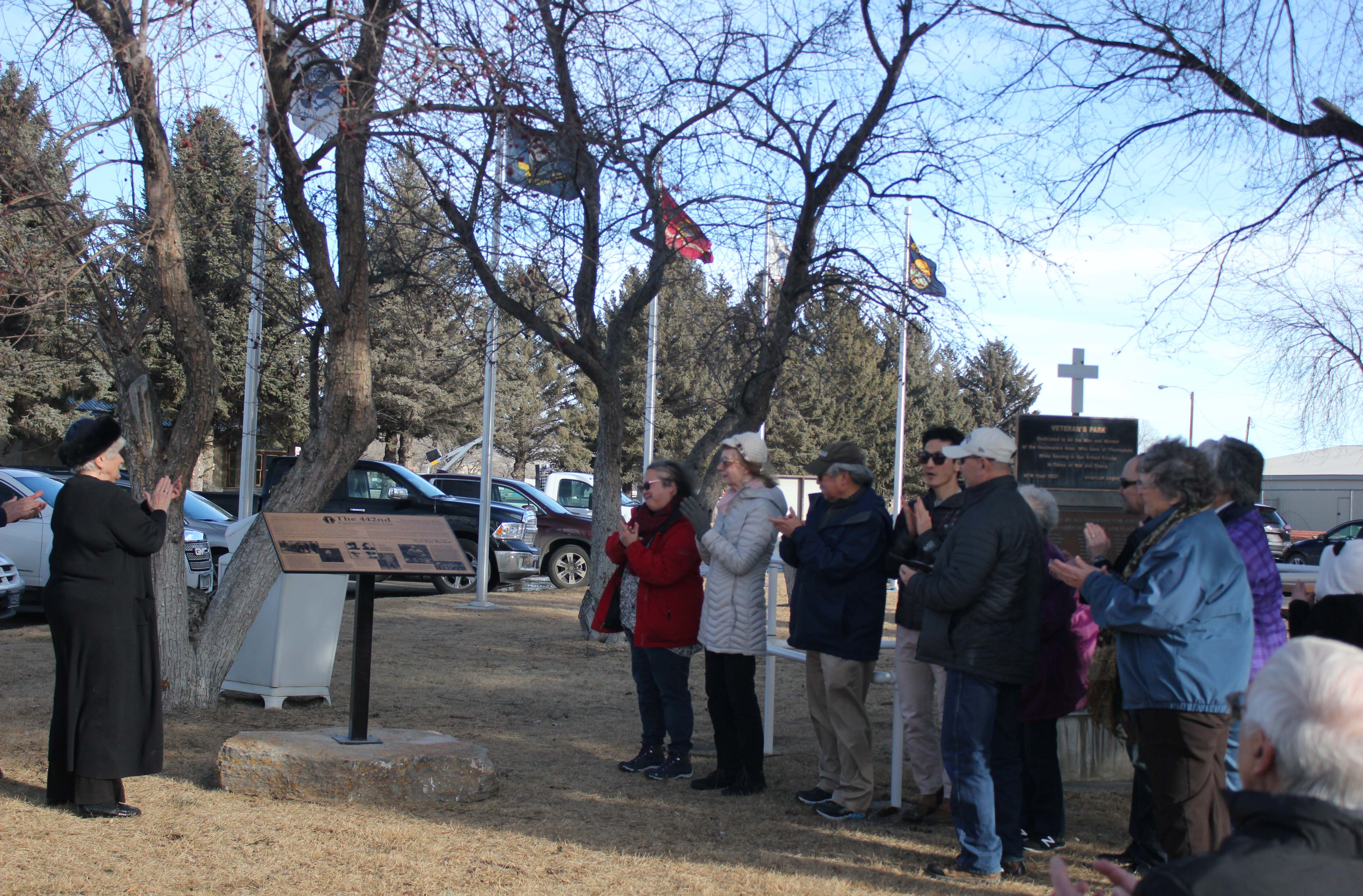 Three Forks dedication of the 442nd Memorial in Three Forks, Montana