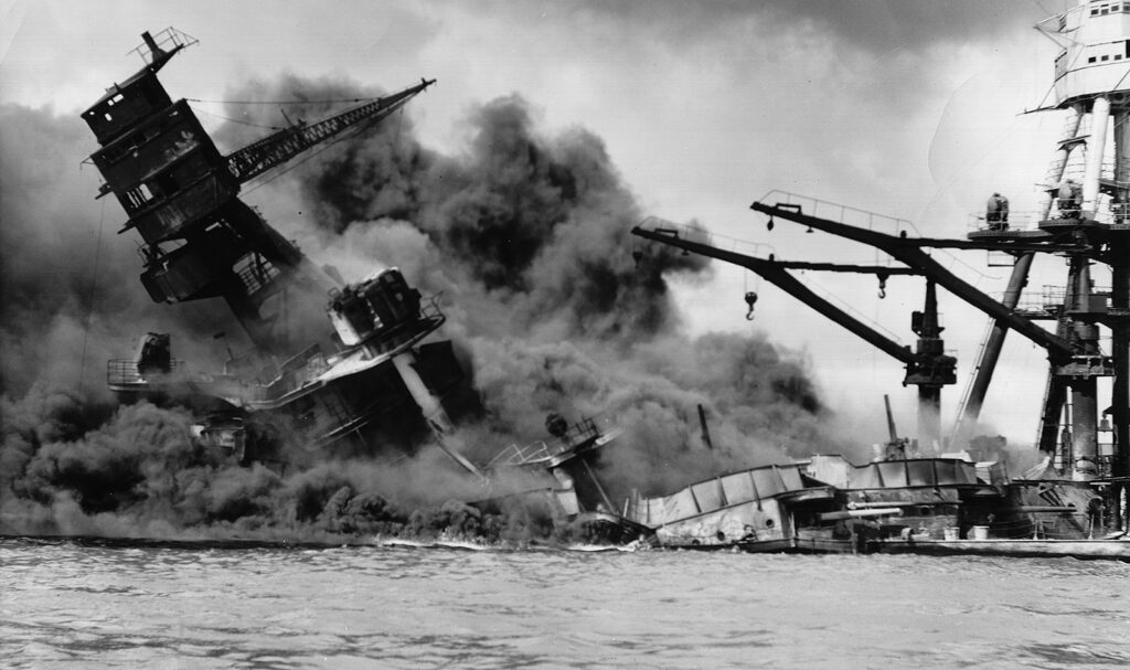 Battleship attacked during Pearl Harbor